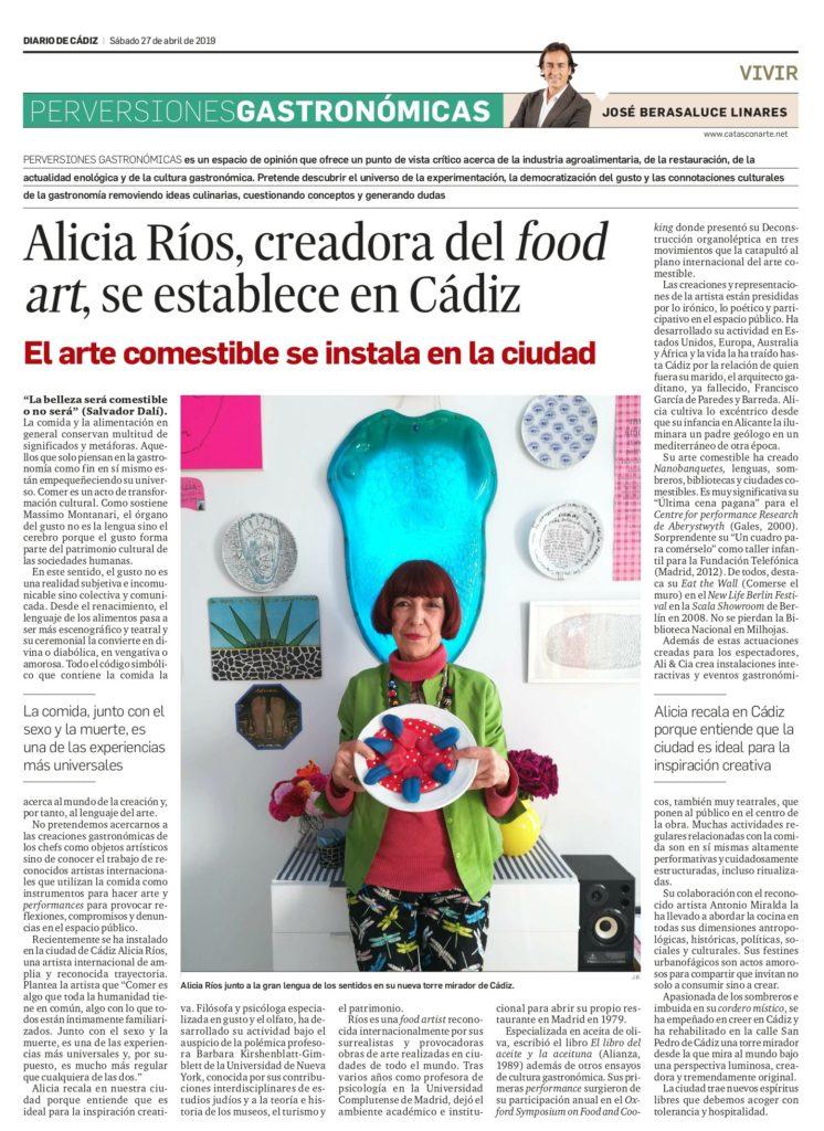 Alicia ríos food art