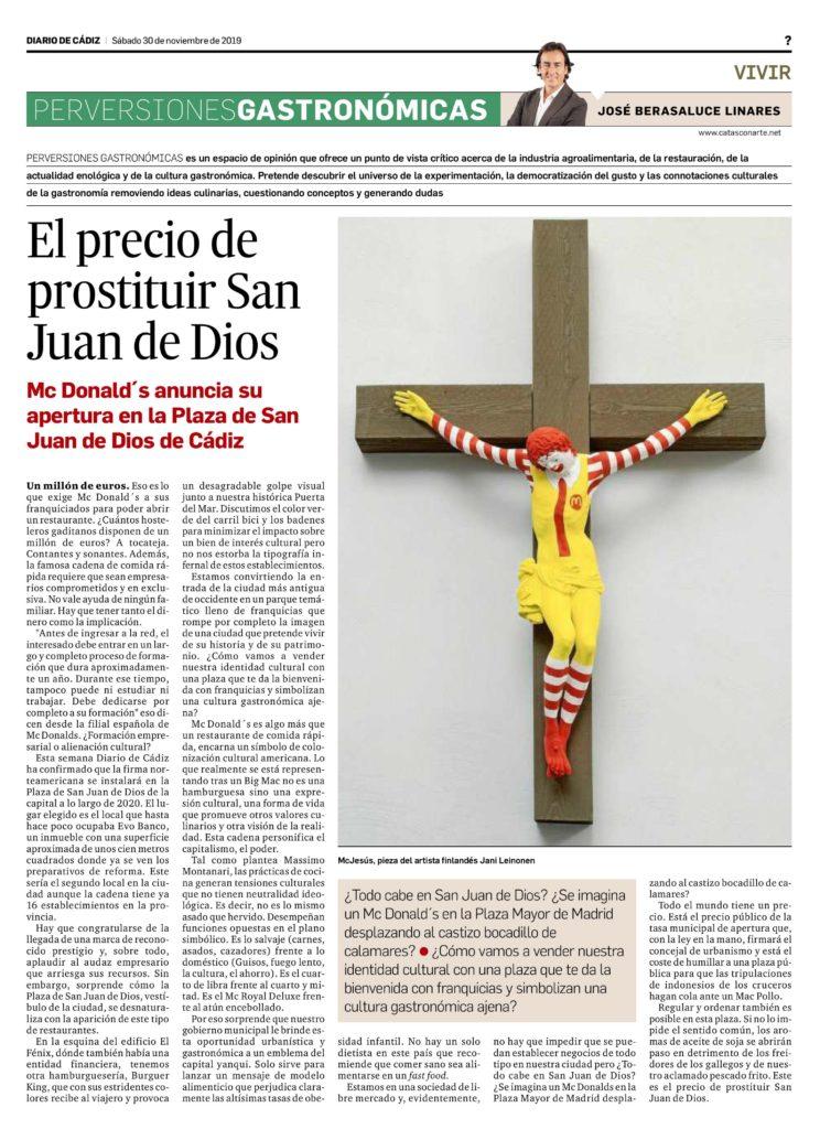 El precio de prostituir san juan de dios